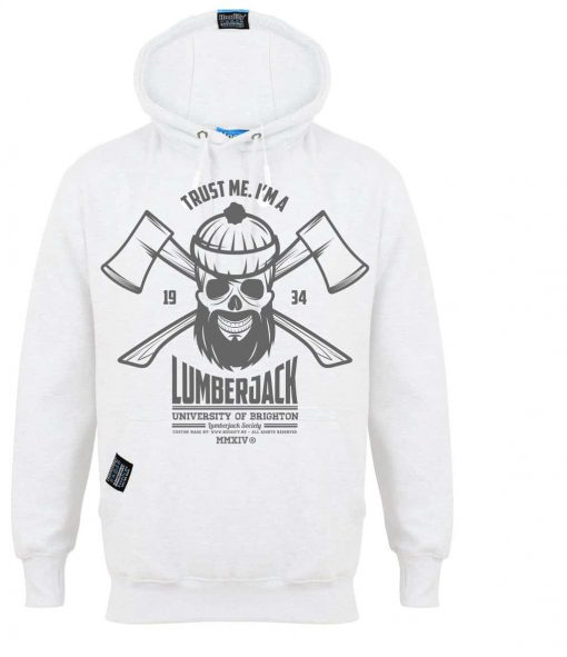 BRIGHTON LUMBERJACK - EARBUD HOOD - BRIGHT SUPER WHITE - HOODIFY.ME - CUSTOM HOODIES SCREEN PRINTED DESIGNS FEATURING - HIDDEN EARBUD IPHONE MP3 POCKET - JPG
