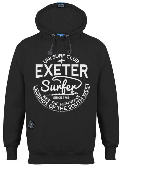 EXETER SURFER - EARBUD HOOD - CHARCOAL - HOODIFY.ME - CUSTOM HOODIES SCREEN PRINTED DESIGNS FEATURING - HIDDEN EARBUD IPHONE MP3 POCKET - JPG