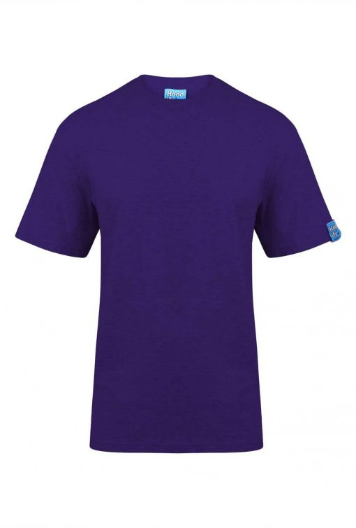 1. HOODIFY HEAVYWEIGHT 100 PERCENT COTTON RINGSPUN T-SHIRT - DETAILS - FRONT - IMG_8659 - PURPLE