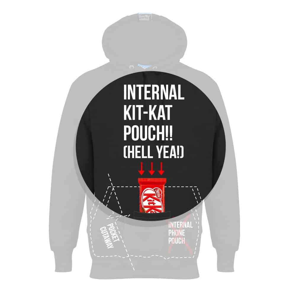 4. HOODIFY.ME INTERNAL KIT-KAT POUCH HELL YEA - FREE KIT-KAT WITH EVERY HOODIE (CALLOUTS)