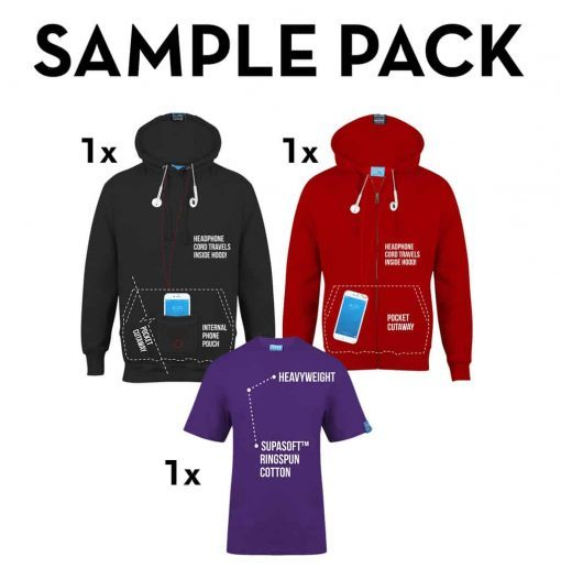 Clothing Triple Sample Pack (Hoodie, Zip Hoodie, T-Shirt)