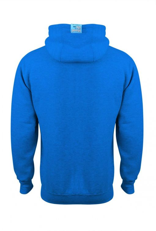 3. HOODIFY EARBUD CUSTOM MADE CUSTOM PRINTED HOODIE SMARTPHONE IPOD POCKET HOODIE BACK ELECTRIC BLUE