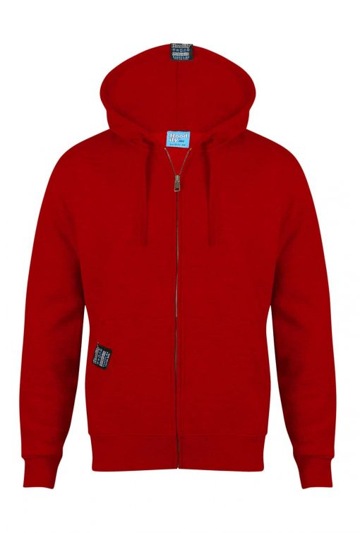 HOODIFY.ME CUSTOM DESIGNED ZIP-HOODIES POSTBOX RED