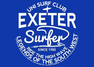 University of Exeter – Surf Society – Custom Designed Hoodies
