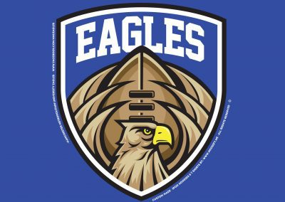 "University of Manchester – ""EAGLES"" American Football Society – Custom Designed Hoodies"