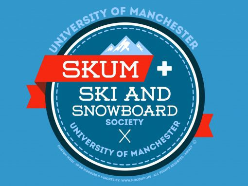 "University of Manchester – ""SKUM"" – (Ski & Snowboard) Custom Designed Hoodies"
