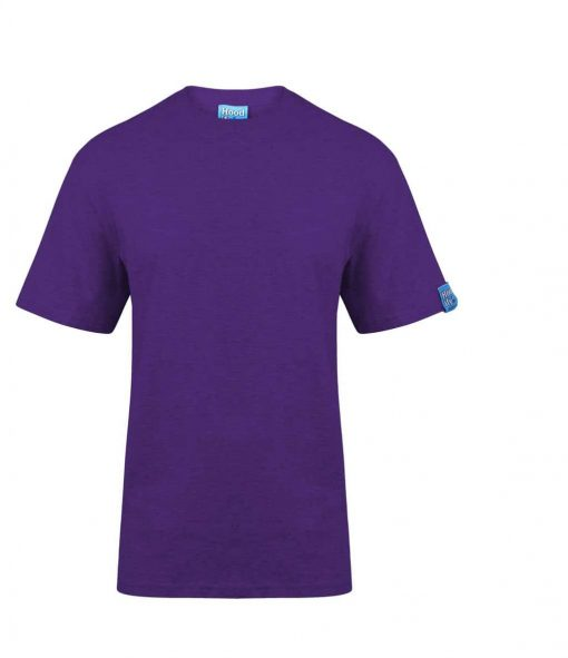 0. PURPLE - HOODIFY.ME - SCREEN PRINTED CUSTOM SCREEN PRINTED T-SHIRT - WITH FEATURING HEAVYWEIGHT SUPASOFT RINGSPUN COTTON FINISH (BLANK)
