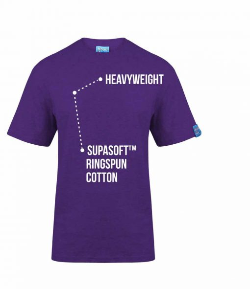 1. PURPLE - HOODIFY.ME - SCREEN PRINTED CUSTOM SCREEN PRINTED T-SHIRT - WITH FEATURING HEAVYWEIGHT SUPASOFT RINGSPUN COTTON FINISH
