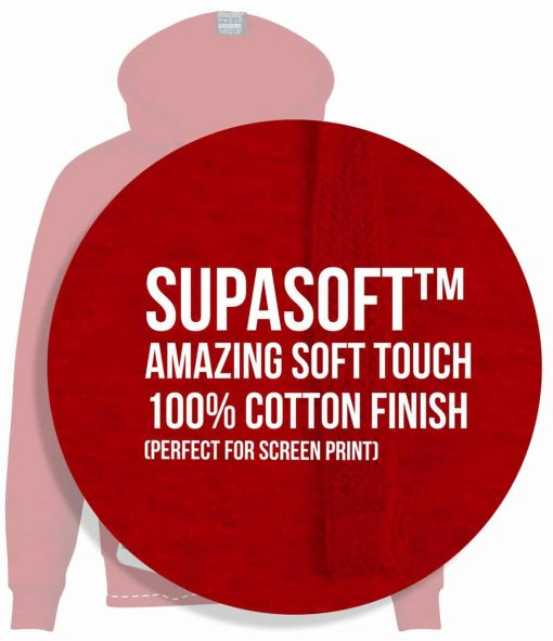 10. SUPASOFT SOFT TOUCH 100% PERCENT RINGSPUN COTTON FINISH PERFECT FOR SCREEN PRINT FAIRTRADE CUSTOM MADE UNIVERSITY UNI SOCIETY SOC TEAM SCREEN PRINTED ZIP HOODIES STASH SCREEN PRINTED HOODIES copy