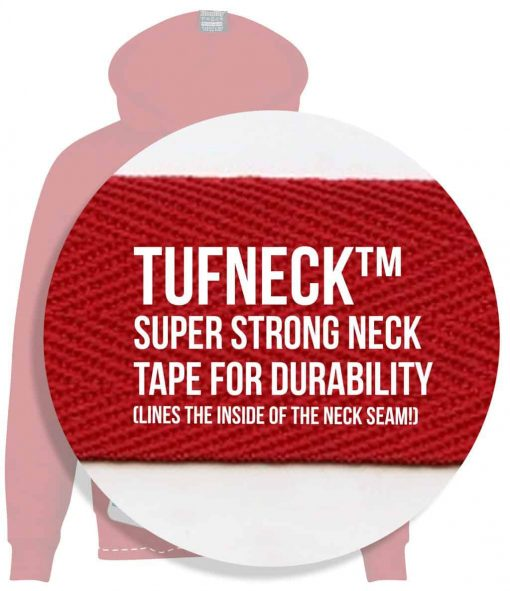 11. TUFNECK SUPER STRONG NECK TAPE FOR DURABILITY INSIDE NECK SEAM CUSTOM MADE UNIVERSITY UNI SOCIETY SOC TEAM SCREEN PRINTED ZIP HOODIES STASH SCREEN PRINTED HOODIES NEW copy