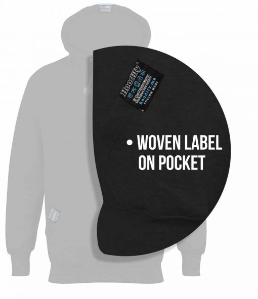9. HOODIFY.ME - WOVEN LABEL ON POCKET - CUSTOM HOODIES SCREEN PRINTED DESIGNS (CALLOUTS)