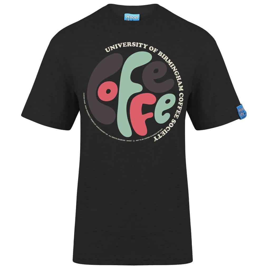 BIRMINGHAM COFFEE 1 - T-SHIRT - (FRONT) - CHARCOAL GREY - HOODIFY.ME - HEAVYWEIGHT TSHIRT RINGSPUN SUPASOFT SUPER SOFT COTTON STAYTIGHT NECK TUFFNECK SEAM FAIRTRADE T-SHIRT