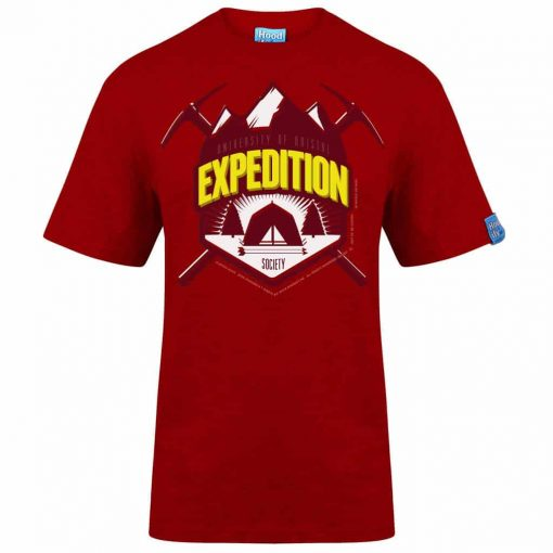 BRISTOL EXPEDITION - T-SHIRT - (FRONT) - POSTBOX RED - HOODIFY.ME - HEAVYWEIGHT TSHIRT RINGSPUN SUPASOFT SUPER SOFT COTTON STAYTIGHT NECK TUFFNECK SEAM FAIRTRADE T-SHIRT