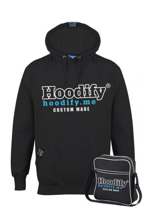 HOODIFY BECOME AN AGENT AND EARN - EARBUD HOODIE - BLACK - HOODIFY LOGO (WITH BAG)