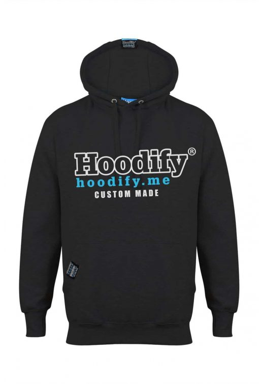 HOODIFY BECOME AN AGENT AND EARN - EARBUD HOODIE - BLACK - HOODIFY LOGO