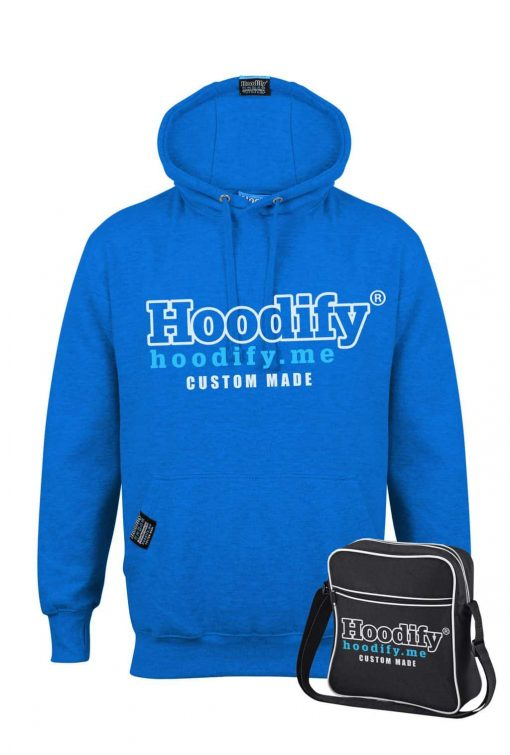 HOODIFY BECOME AN AGENT AND EARN - EARBUD HOODIE - ELECTRIC BLUE - HOODIFY LOGO (WITH BAG)