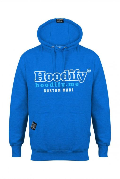 HOODIFY BECOME AN AGENT AND EARN - EARBUD HOODIE - ELECTRIC BLUE - HOODIFY LOGO