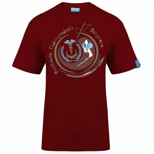 PENINSULA MEDICAL - T-SHIRT - (FRONT) - CHILLI RED - HOODIFY.ME - HEAVYWEIGHT TSHIRT RINGSPUN SUPASOFT SUPER SOFT COTTON STAYTIGHT NECK TUFFNECK SEAM FAIRTRADE T-SHIRT