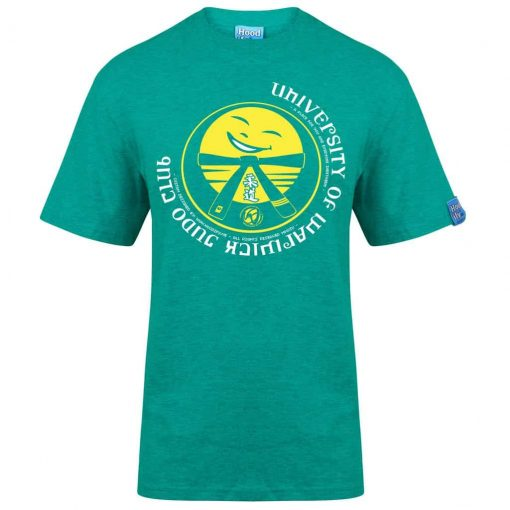 WARWICK JUDO - T-SHIRT - (FRONT) - EMERALD GREEN - HOODIFY.ME - HEAVYWEIGHT TSHIRT RINGSPUN SUPASOFT SUPER SOFT COTTON STAYTIGHT NECK TUFFNECK SEAM FAIRTRADE T-SHIRT